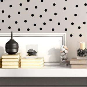 Set 60 autocolante Ambiance Black Dots