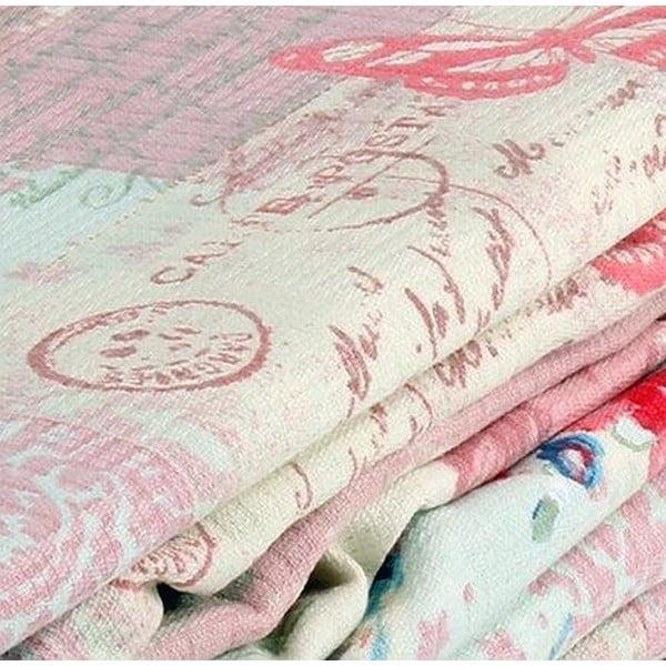 Růžový přehoz přes postel Love Colors Molly, 200 x 240 cm