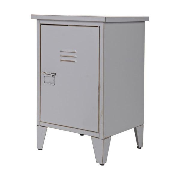 Noční stolek Max, šedý, pravostranné otevírání
