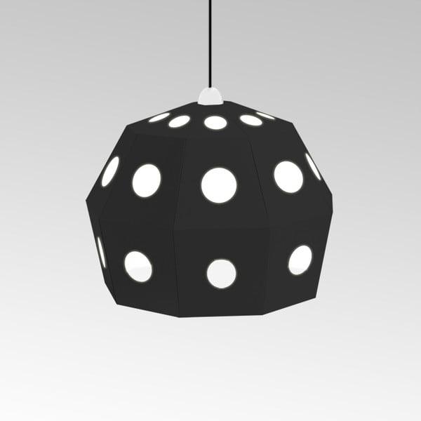 Kartonové svítidlo Uno Fantasia B Black, s černým kabelem