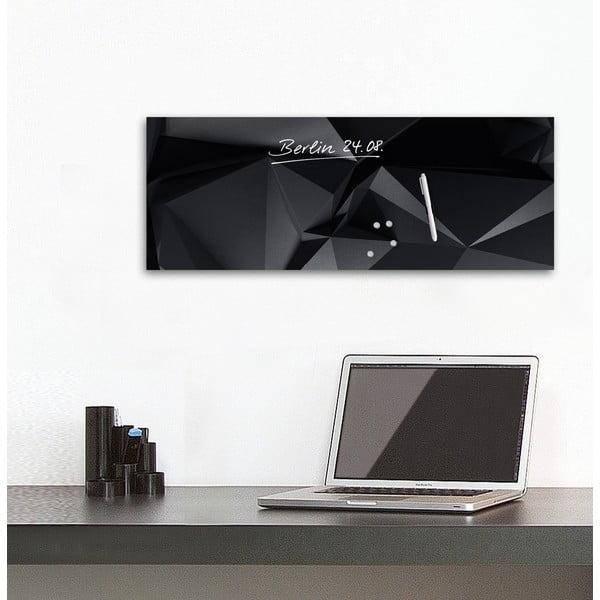 Magnetická tabule Eurographic Graphite Crystal, 30x80cm