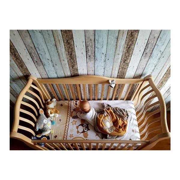Pătuț din lemn YappyKids La:le, 120 x 60 cm, maro deschis