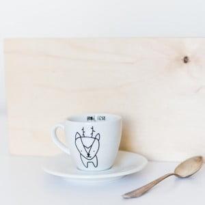 Hrneček na espresso s podšálkem FOR.REST Design Deer,100ml
