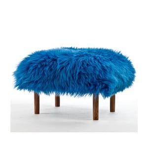 Stolička z ovčí kůže Bonwen Cornflower Blue