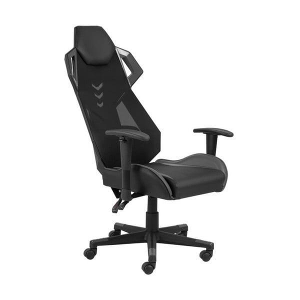 Czarno-szare krzesło biurowe na kółkach Actona Kevin