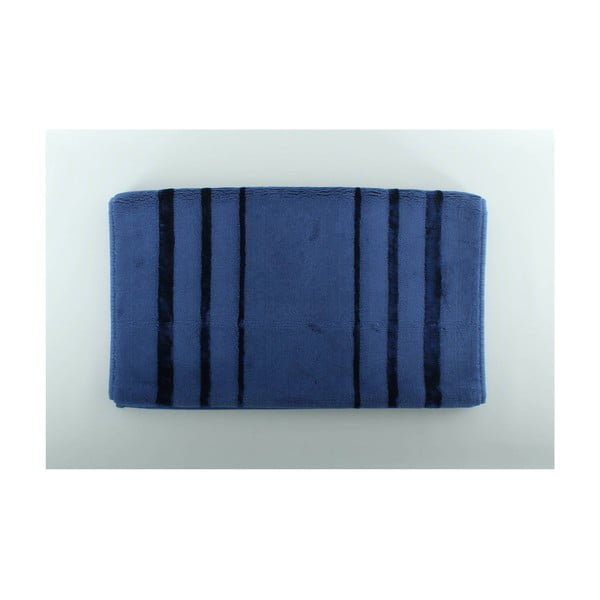 Modrá koupelnová předložka U.S. Polo Assn. Charleston, 60x100cm