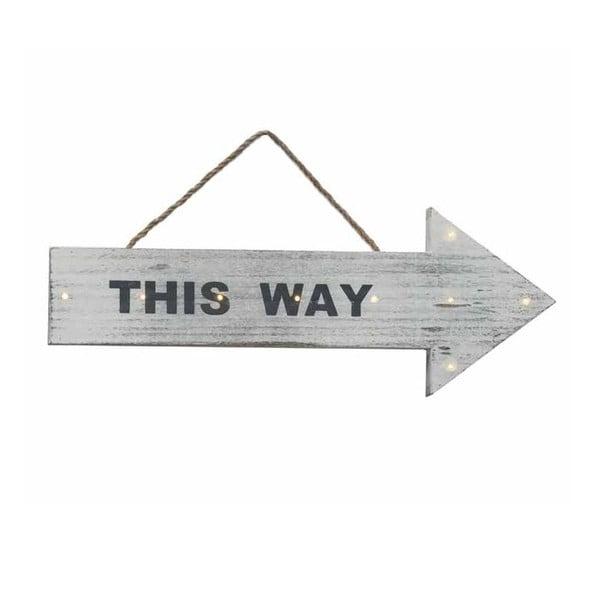 Nástěnná cedule This Way