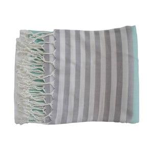 Tyrkysová ručně tkaná osuška z prémiové bavlny Homemania Melis Hammam,100x180 cm