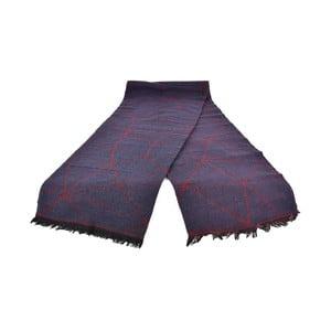 Fialový dámský šál s příměsí bavlny Dolce Bonita Sky, 170 x 90 cm