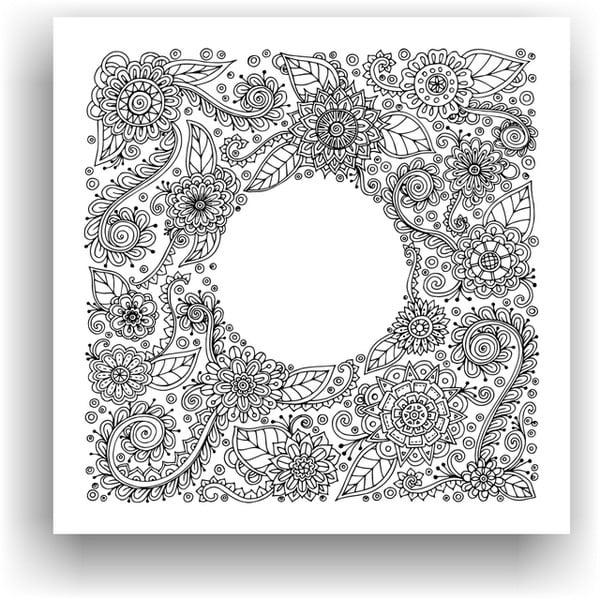 Obraz k vymalování Color It no. 78, 50x50 cm