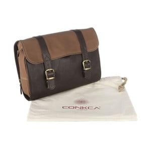 Kožená toaletní taška Grasmere Brown