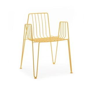 Žlutá židle Mobles 114 Rambla