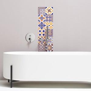 Sada 12 dekorativních samolepek na stěnu Ambiance Alenna, 15 x 15 cm