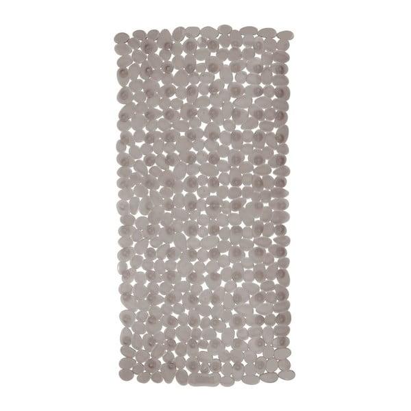 Šedobéžová protiskluzová koupelnová podložka Wenko Drop, 71x36cm