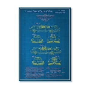 Plakát Batmobile, 30x42 cm