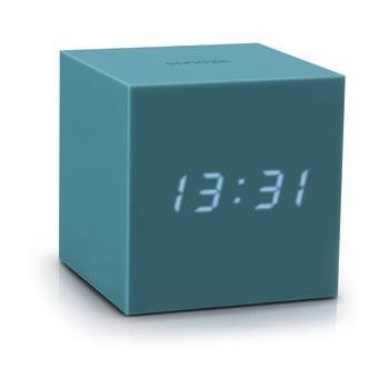 Ceas deșteptător cu LED Gingko Gravity Cube, gri - albastru
