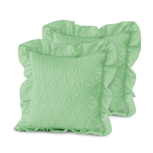 Sada 2 zelených obliečok na vankúš AmeliaHome Tilia Mint, 45 x 45 cm