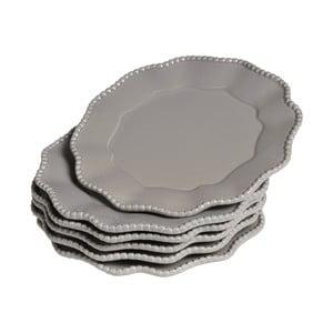 Sada talířů Parma, 6 ks, šedé