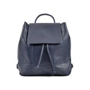 Tmavě modrý kožený dámský batoh Roberta M Ramida