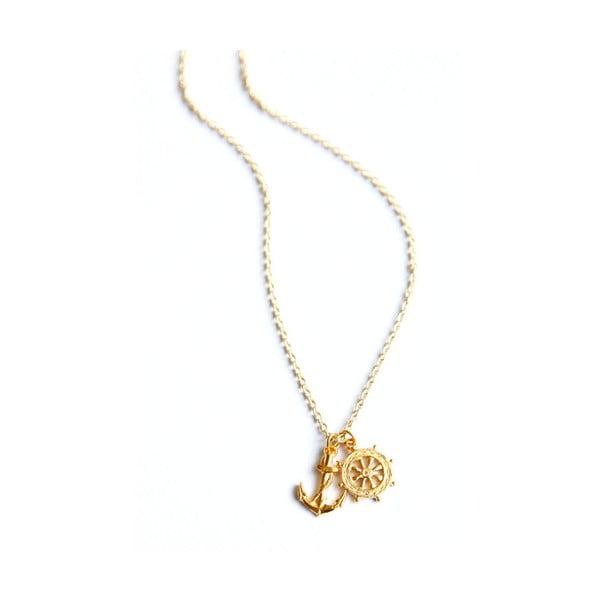 Náhrdelník Anchor&Wheel, zlatý