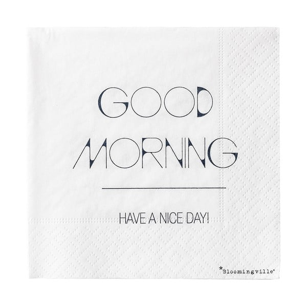 Good Morning 20 db-os papírszalvéta szett, 25 x 25 cm - Bloomingville