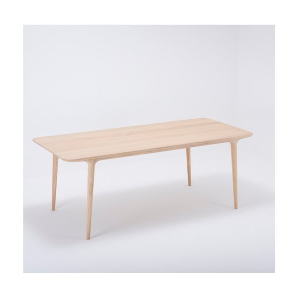 Jídelní stůl z masivního dubového dřeva Gazzda Fawn, 200x90cm