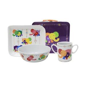 Dětský snídaňový set v kufříku Silly Design Elephant
