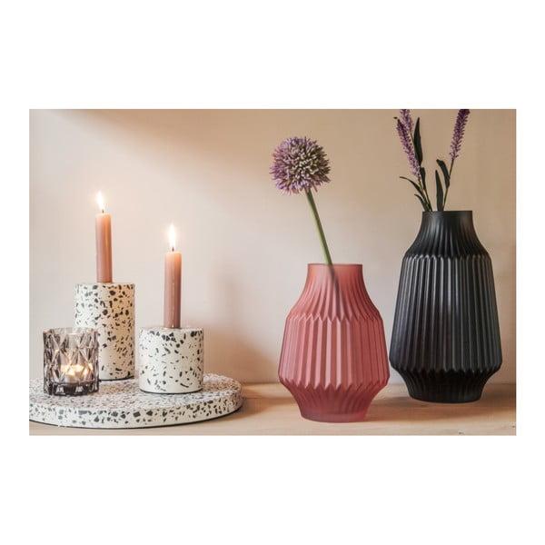 Černá skleněná váza PT LIVING Stripes, Ø 16 cm