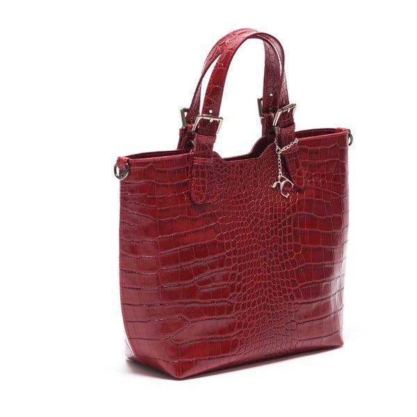 Kožená kabelka Renata Corsi 635 Rosso