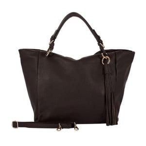 Tmavě hnědá kabelka z pravé kůže Andrea Cardone Star