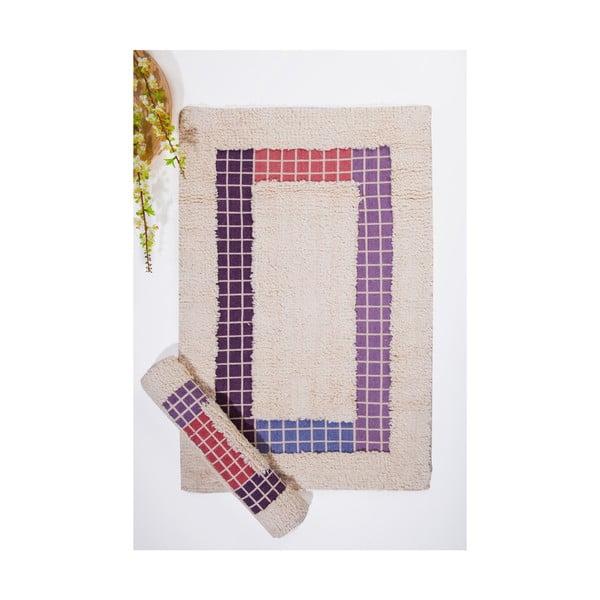 Set koupelnových předložek Kare, Cream Lilac