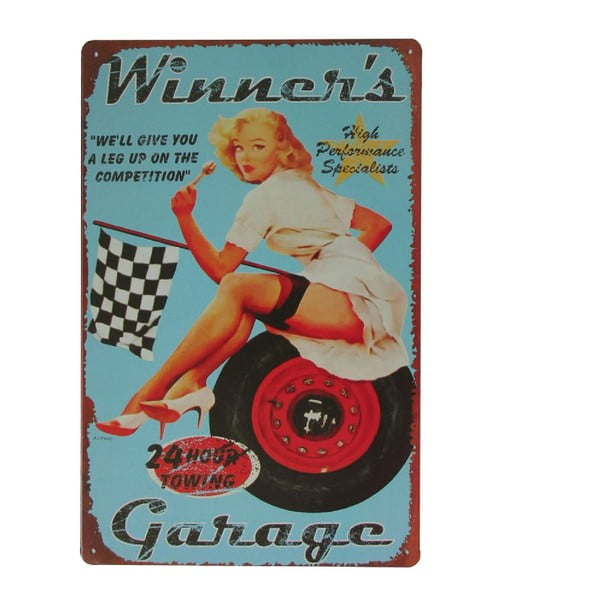 Cedule Winners Garage, 20x30 cm