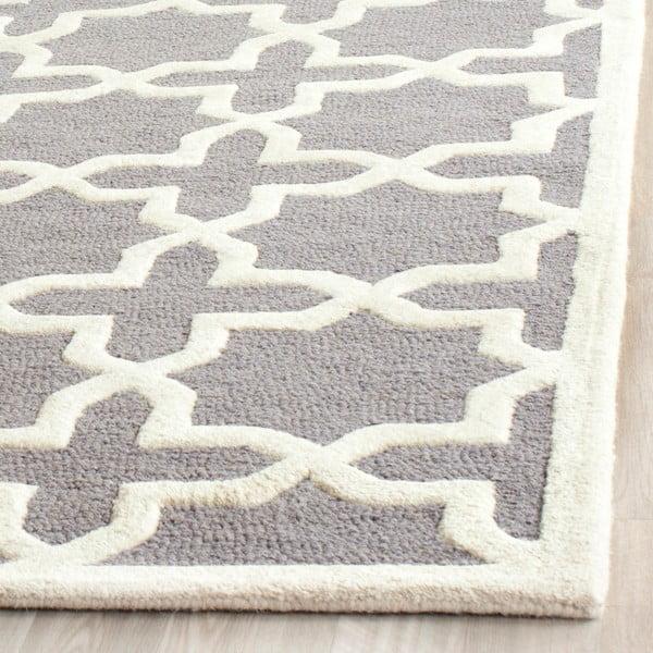 Vlněný koberec Marina 121x182 cm, šedý