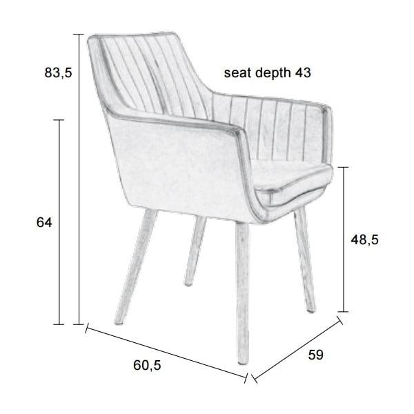 Koňaková jídelní židle Pike