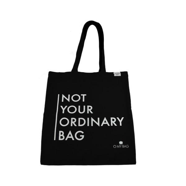 Bavlněná taška O My Bag Not Your Ordinary, černá