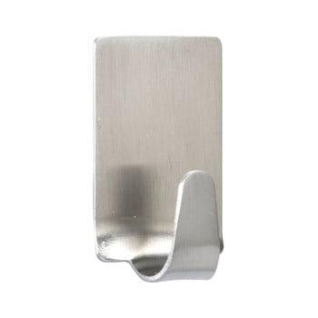Set 4 cârlige de perete, oțel inoxidabil mat Wenko Square