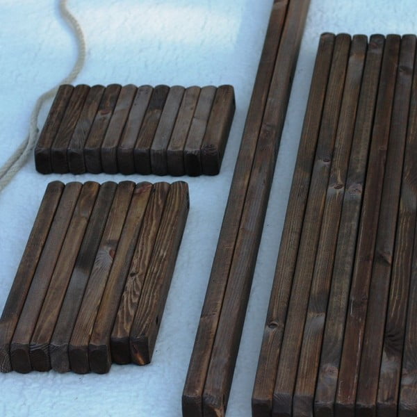 Ekologické lehátko z šedé borovice EcoFurn EcoChair