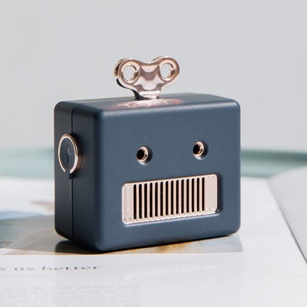Niebieski przenośny głośnik Bluetooth Qushini Robot