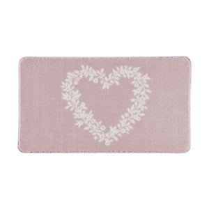 Koupelnová předložka Spring Heart Pink, 57x100 cm