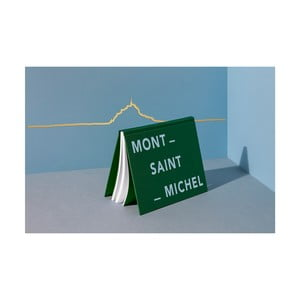 Pozlacená nástěnná dekorace se siluetou města The Line Mont-Saint-Michel