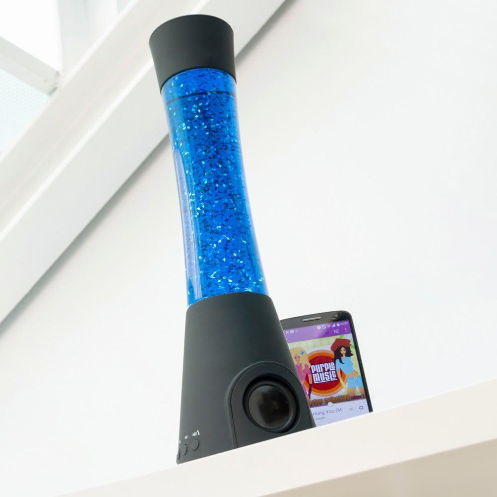 Stolní vodní lampa s reproduktorem InnovaGoods Flow Glitter Lamp