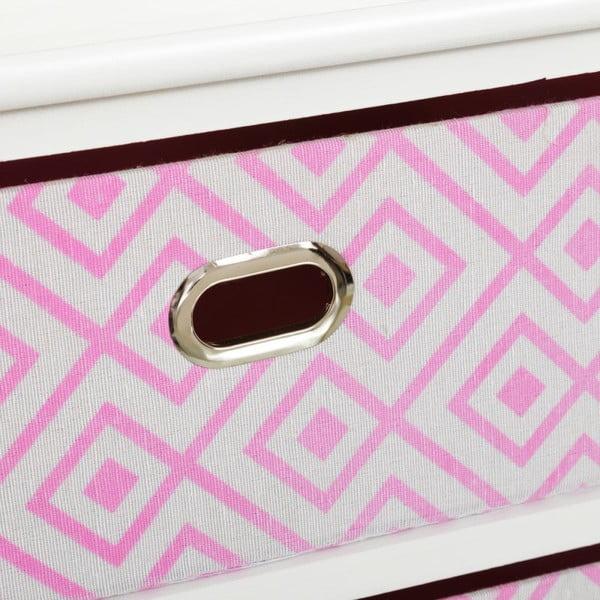 Poliță cu 2 sertare Unimasa Paulonia, 40 x 41 cm, roz