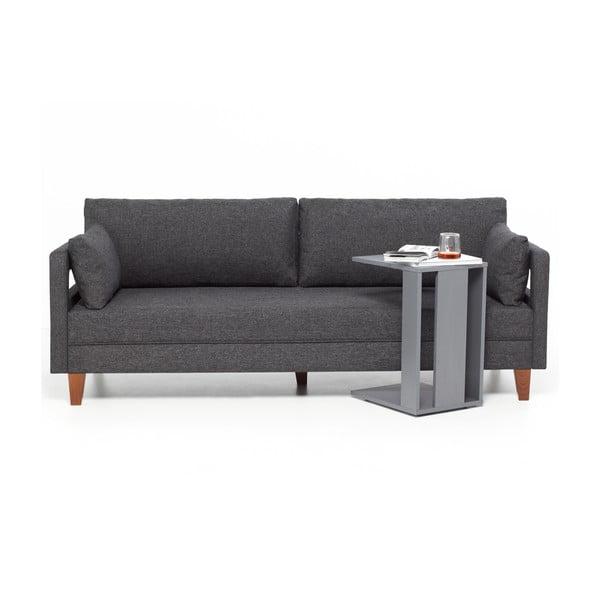 Home Lola szürke háromszemélyes kanapé - Balcab