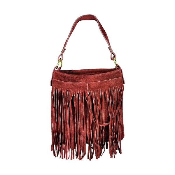Kožená kabelka Frangia Red