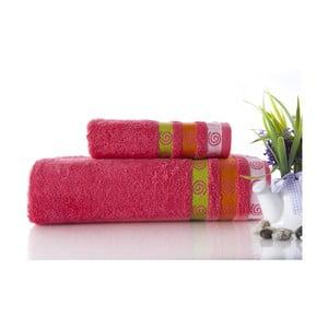 Set dvou ručníků Truva Fuchsia, 90x150 a 50x90 cm