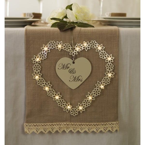 Svatební dekorace s LED světly Heart