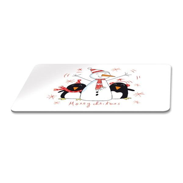 Podnos s vánočním motivem PPD Singing Penguins, 23,3 x 14,3 cm