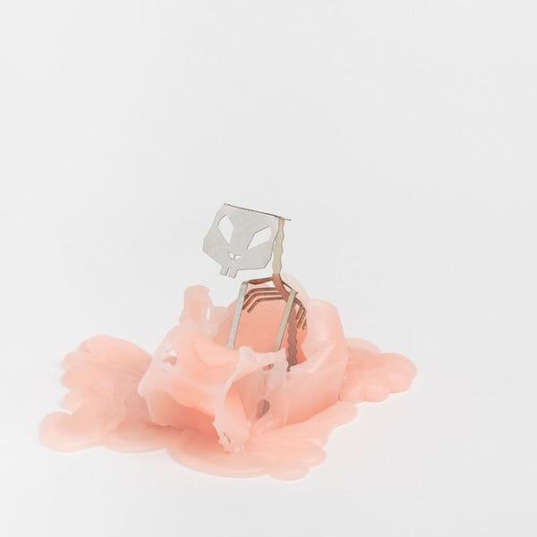 Růžová svíčka Pyropet Hoppa