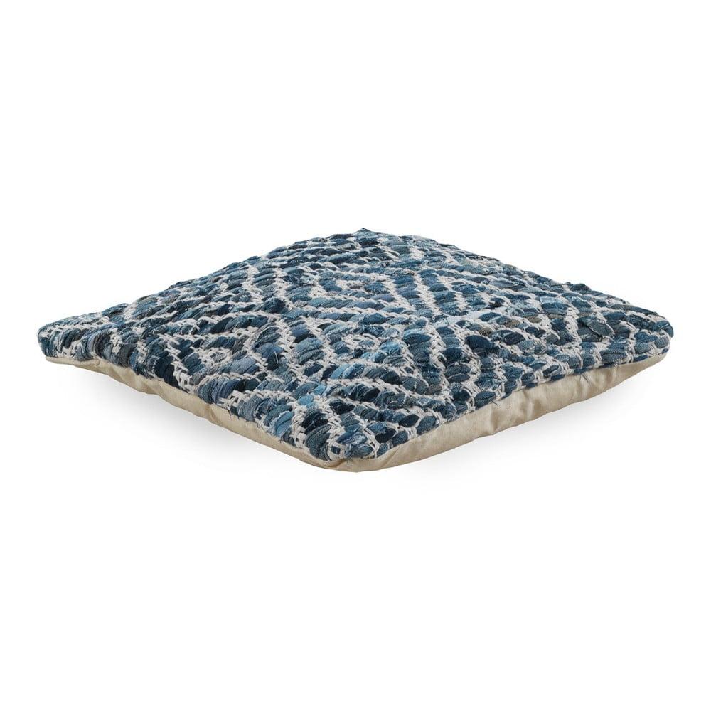 Modrý polštář s výplní Geese Valencia, 45 x 45 cm
