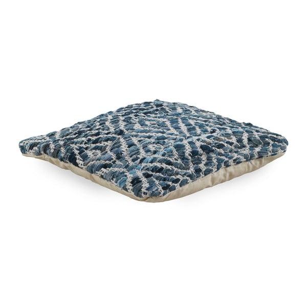 Niebieska poduszka z wypełnieniem Geese Valencia, 45x45 cm